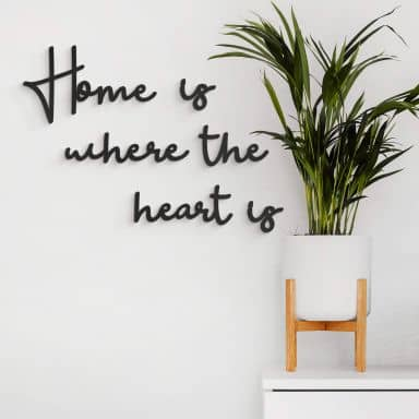 MDF Decoratie Home is where the heart is