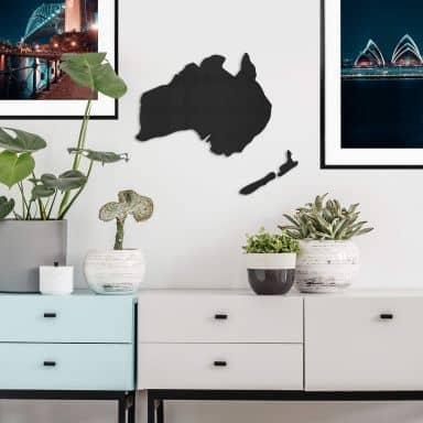 MDF - Holzdeko - Karte Australien - Neuseeland