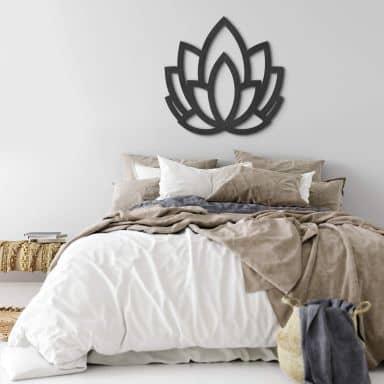 MDF - Holzdeko - Yoga Lotusblume