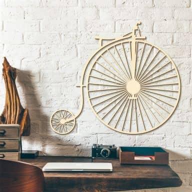 Décoration en bois - Bicyclette ancienne - Peuplier