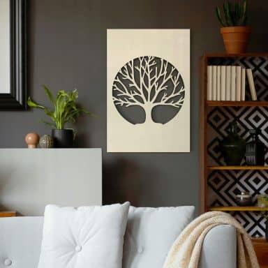 Dekobild Pappel - Baum des Lebens