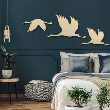 Wood - Birds - Poplar wood