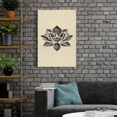 Holzkunst Pappel - Lotusblume
