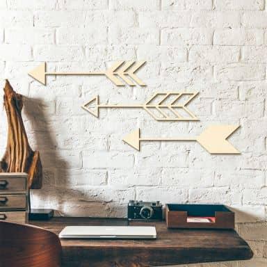 Wooden Décor - Arrows - set of 3