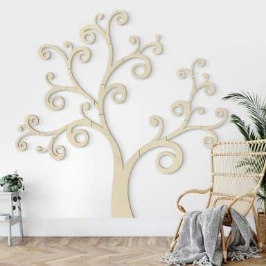 Holzdeko Pappel XXL-Baum Geschwungen (20-teilig)
