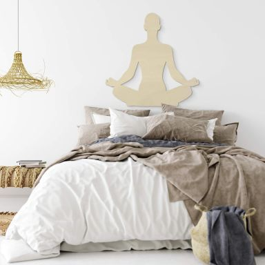 Holzdeko Pappel - Yoga Pose sitzend 01