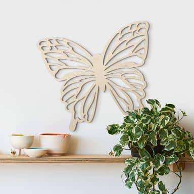 Holzdeko Pappel - Schmetterling Isabella
