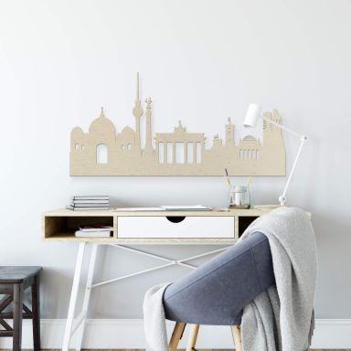 Holzkunst Pappel Furnier - Skyline Berlin