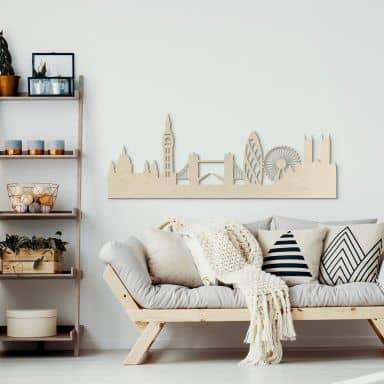 Decoro in legno – Skyline Londra - Pioppo