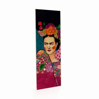 Holzposter Hülya - Frida - Panorama - 10x30 cm