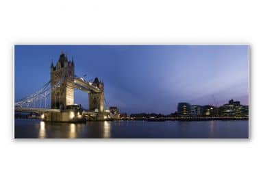 Wandbild Tower Bridge an der Themse - Panorama