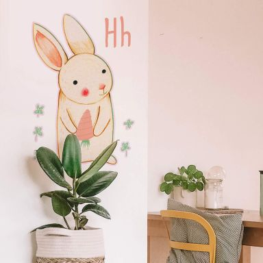 Wall sticker Loske H is for Hare