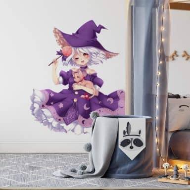 Muursticker La Doll Blanche - Little Witch