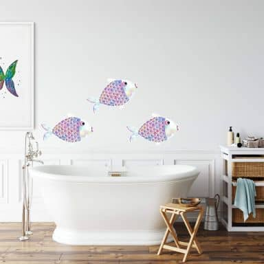 Wall sticker Blanz – Fairytale Fish