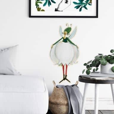 Wall sticker Leffler – Flower girl May