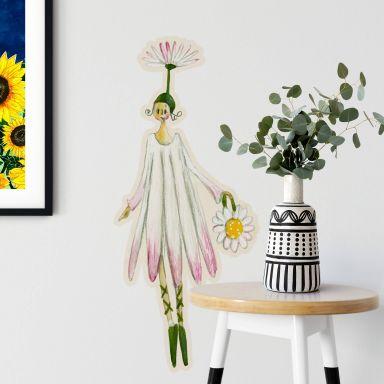 Wall sticker Leffler – Flower girl August