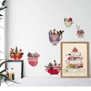 Wall sticker Blanz – Dream Cups