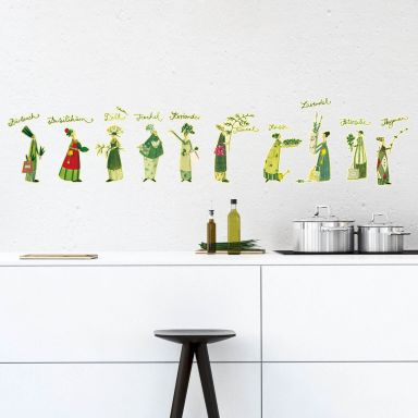Wall sticker Leffler - Herb ladies