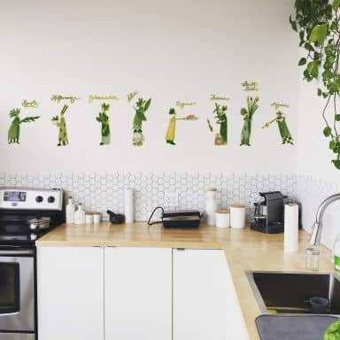 Wall sticker Leffler - Herb ladies 02