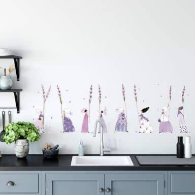 Wall sticker set Blanz – Lavender girls 01
