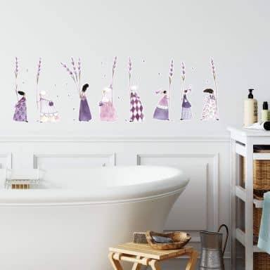 Wall sticker set Blanz – Lavender girls 02