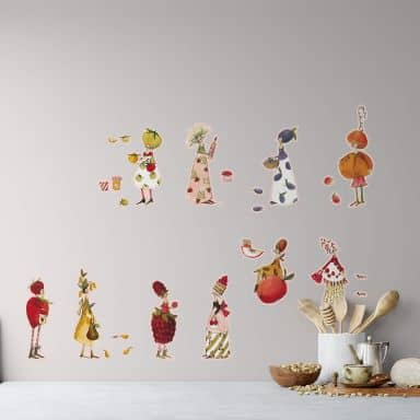 Wall sticker set Leffler – Marmelade girls