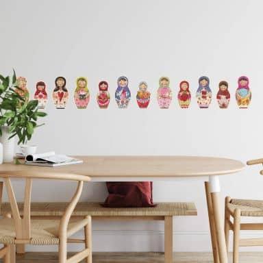 Wall sticker set Leffler – Matryoshka's