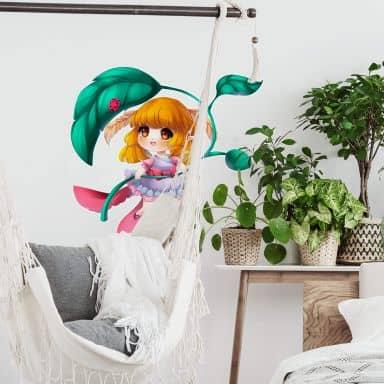 Muursticker La Doll Blanche – Little Fairy