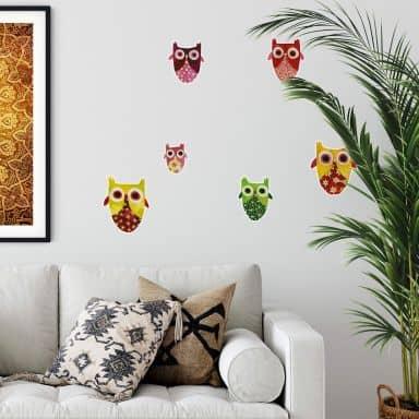 Wall sticker set Blanz – Oriental Owls