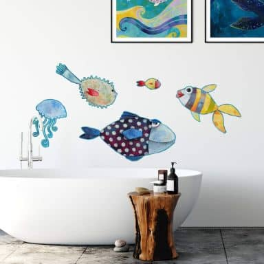 Wall sticker Blanz - Fish