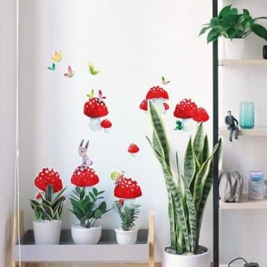 Wall sticker set Blanz – Mushrooms for Luck