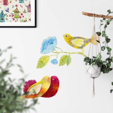 Wandtattoo Blanz - Vögel im Wald