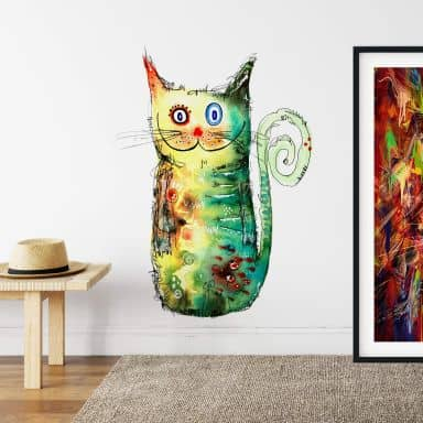 Wall sticker Hagenmeyer – Crazy Cat