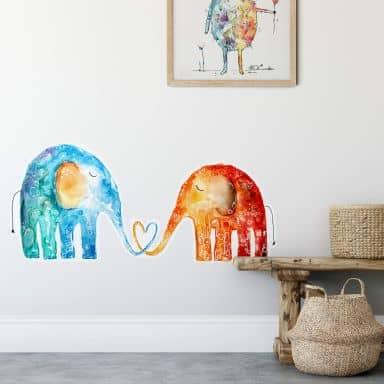 Wall sticker Hagenmeyer - Elephant Love