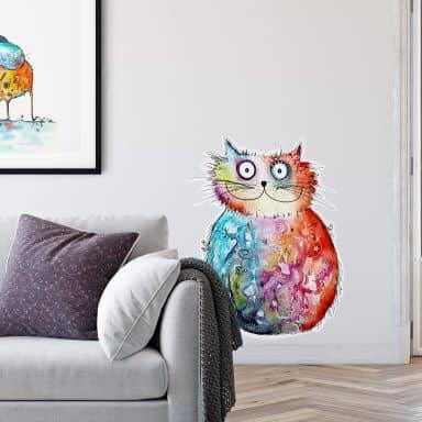 Wall sticker Hagenmeyer – Happy Cat