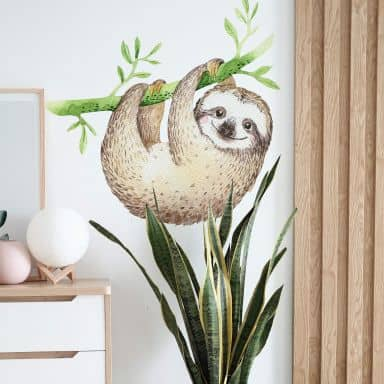 Wall sticker Kvilis – Hanging Sloth