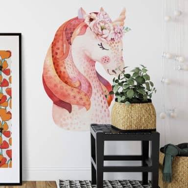 Wall sticker Kvilis - Unicorn orange