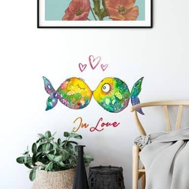 Wandtattoo Hagenmeyer - Verliebte Fische