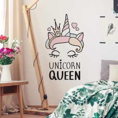 Muursticker Kvilis - Unicorn queen