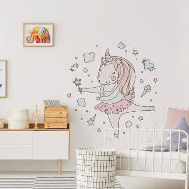 Wall sticker Kvilis - Dancing unicorn