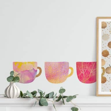 Wall sticker set Fredriksson - Pretty Coffee Cup