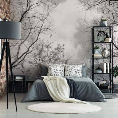 Fotobehang Papierbehang Bomen in de Hemel - 366x254 cm