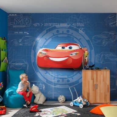 Fototapete Disney Cars 3 Blueprint