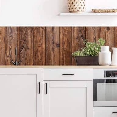 Küchenrückwand - Alu-Dibond - Holzpaneele 02