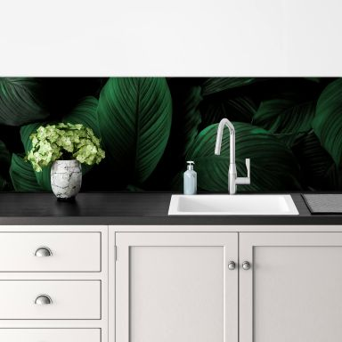 Küchenrückwand Tropische Lilienblätter