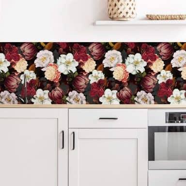 Küchenrückwand UN Designs - Blumenarrangement