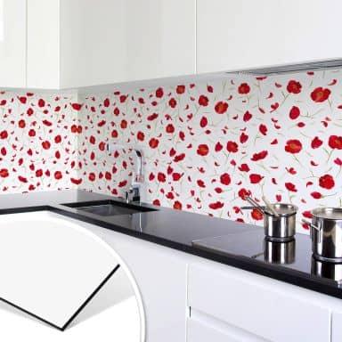 Küchenrückwand Leffler - Mohnblüten
