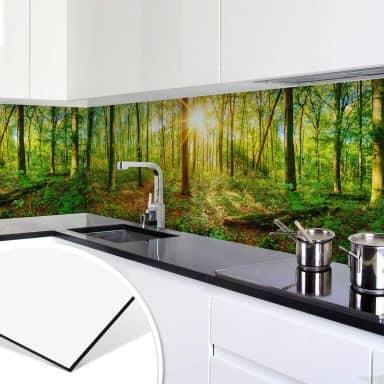 Küchenrückwand - Alu-Dibond - Tief im Wald