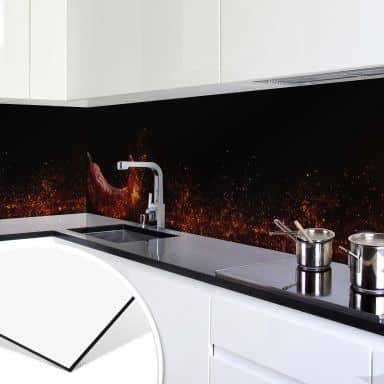 Alu-Dibond-Silber Küchenrückwand Strandpanorama SPRITZSCHUTZ KÜCHE DEKO BILD
