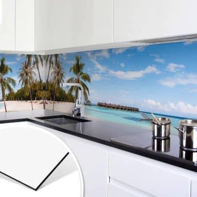 Küchenrückwand Colombo - Wasserbungalows auf den Malediven